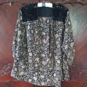 Abercrombie &Fitch kimono floral tassles OS